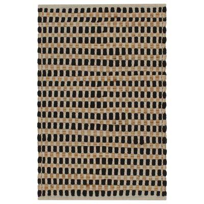 vidaXL kézzel szőtt természetes/fekete juta fürdőszobaszőnyeg-szett