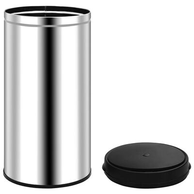 vidaXL automata érzékelős rozsdamentes acél szemeteskuka 70 L