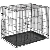 @Pet fekete fém kutyaketrec 107 x 70 x 77,5 cm