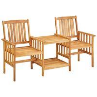 vidaXL tömör akácfa kerti székek asztalkával 159 x 61 x 92 cm