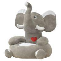 vidaXL szürke elefánt alakú plüss gyerekszék