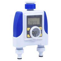 vidaXL elektronikus dupla kimenetű öntözőautomata késleltetővel