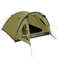 vidaXL 3 személyes zöld sátor
