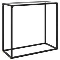 vidaXL átlátszó edzett üveg tálalóasztal 80 x 35 x 75 cm