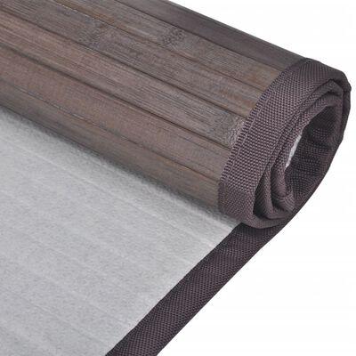 vidaXL 4 db sötétbarna bambusz fürdőszobaszőnyeg 60 x 90 cm