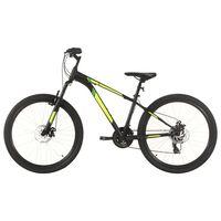vidaXL 21 sebességes fekete mountain bike 27,5 hüvelykes kerékkel 50cm