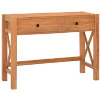 vidaXL újrahasznosított tíkfa íróasztal 2 fiókkal 100 x 40 x 75 cm