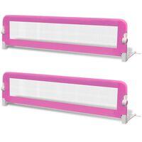 vidaXL 2 db rózsaszín biztonsági leesésgátló 150 x 42 cm