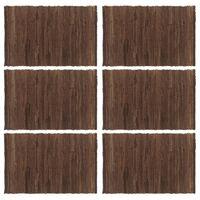 vidaXL 6 darab barna pamut rongyalátét 30 x 45 cm