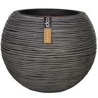 Capi Nature Rib KOFZ270 antracitszürke gömb alakú váza 40 x 32 cm