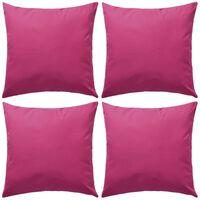 vidaXL 4 db rózsaszín kültéri párna 45 x 45 cm