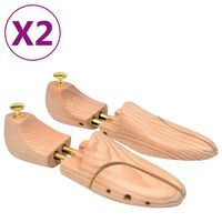 vidaXL 2 pár tömör fenyőfa sámfa 44-45-ös méret