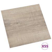 vidaXL 55 db tópszínű öntapadó PVC padlólap 5,11 m²