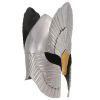vidaXL ezüstszínű középkori lovagi fantázia acélsisak LARP másolat
