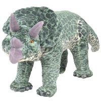 vidaXL álló, zöld plüss triceratops XXL