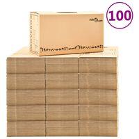 vidaXL 100 db karton költöztetődoboz XXL 60 x 33 x 34 cm