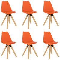vidaXL 6 db narancssárga étkezőszék