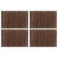 vidaXL 4 db barna pamut chindi tányéralátét 30 x 45 cm