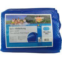 Summer Fun kék polietilén szolártakaró ovális medencéhez 700 x 350 cm