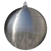 vidaXL kerti gömb alakú rozsdamentes acél szökőkút LED-fényekkel 30 cm
