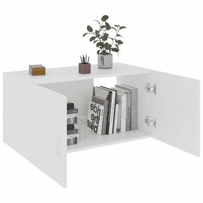 vidaXL fehér falra szerelhető forgácslap szekrény 80 x 39 x 40 cm