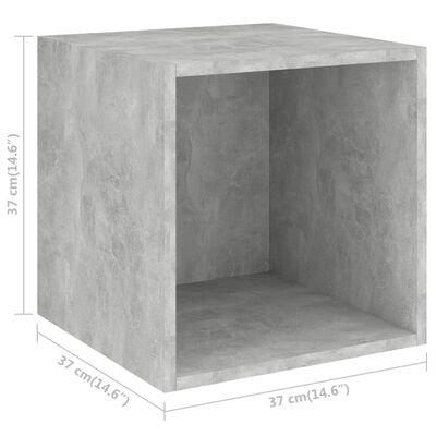 vidaXL betonszürke forgácslap faliszekrény 37 x 37 x 37 cm