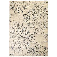 vidaXL bézs/kék modern szőnyeg virágmintával 160 x 230 cm