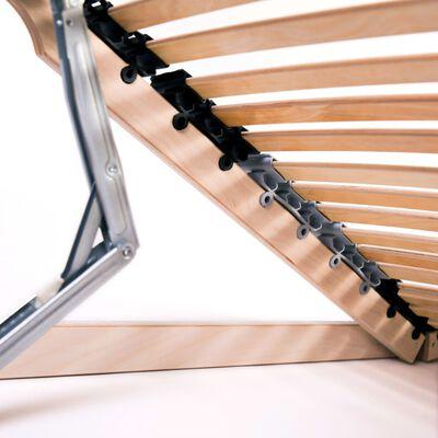 vidaXL 2 db 7 zónás 42 léces ágyrács 80 x 200 cm