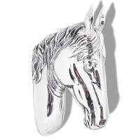 vidaXL falra rögzíthető lófej dekoráció alumínium ezüst