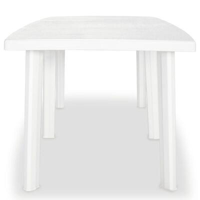 vidaXL fehér műanyag kerti asztal 210 x 96 x 72 cm, Fehér