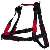 TRIXIE Lead'n'Walk Soft M-L-es méretű fekete kutyahám 55-90 cm