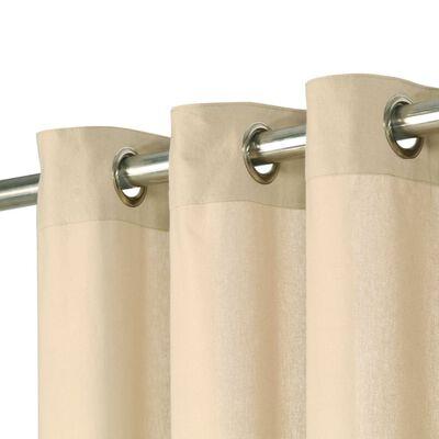 vidaXL 2 db bézsszínű pamutfüggöny fémgyűrűkkel 140 x 225 cm