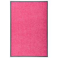 vidaXL rózsaszín kimosható lábtörlő 60 x 90 cm