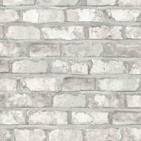 DUTCH WALLCOVERINGS fehér tégla mintás tapéta