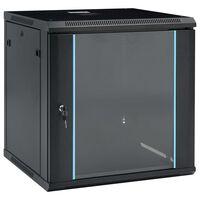 """vidaXL 12U fali hálózati szekrény 19"""" IP20 600 x 600 x 640 mm"""