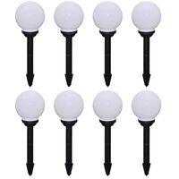 vidaXL 8 db kültéri gyalogjáró LED-lámpa cölöppel 15 cm