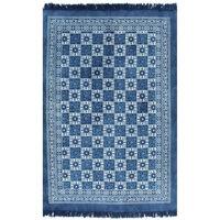 vidaXL kék mintás kilim pamutszőnyeg 160 x 230 cm