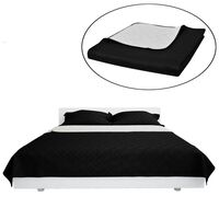 Kétoldalú vattázott ágytakaró 170 x 210 cm fekete/fehér