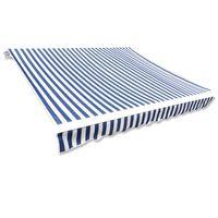 vidaXL kék és fehér napellenző ponyva 6 x 3 m (keret nélkül)