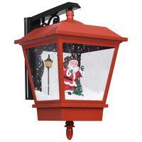 vidaXL piros karácsonyi fali lámpa LED-ekkel és Mikulással 40x27x45 cm