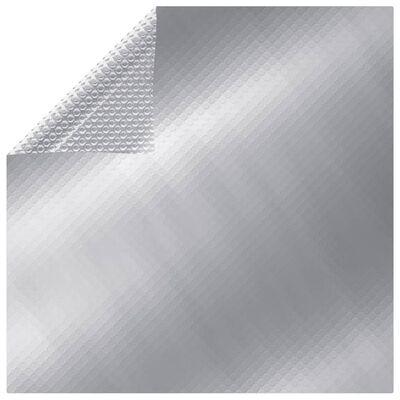 vidaXL ezüstszínű négyszögletes PE medencetakaró 500 x 300 cm