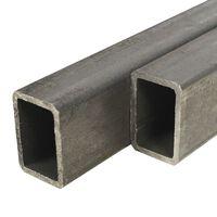 vidaXL 2 db téglalap alakú szerkezeti acél zártszelvény 60x40x3mm, 1 m