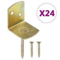 vidaXL 24 db L alakú horganyzott fém kerítéspaneltartó