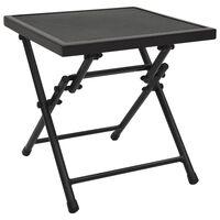 vidaXL antracitszürke acél összecsukható hálós asztal 38 x 38 x 38 cm