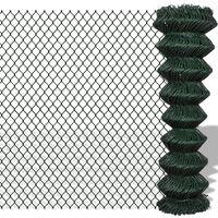 vidaXL zöld acél drótkerítés 1,5 x 15 m