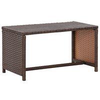 vidaXL barna polyrattan dohányzóasztal 70 x 40 x 38 cm