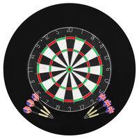 vidaXL szizál professzionális darts tábla 6 nyíllal és tábla védővel
