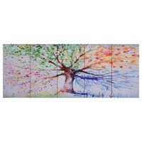 vidaXL többszínű nyomtatott fa vászon falikép szett 150 x 60 cm
