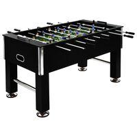 vidaXL fekete acél csocsóasztal 140 x 74,5 x 87,5 cm