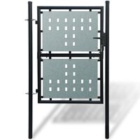1 ajtós kapu 100 x 250 cm fekete